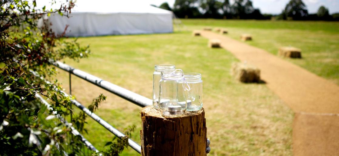 Marquee in rural setting of Bath - Events at Rainbow Wood Farm, Bath