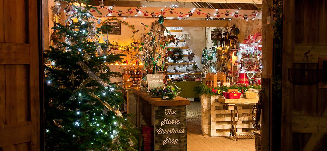 Rainbow Wood Farm Christmas Shop, Bath
